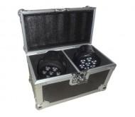 LMH350LED-2FC 2 x mini wash efektas 4-in-1 + dėžė
