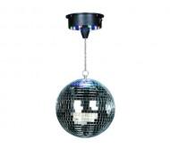 DISCO1-20 veidrodinis gaublys su varikliuku ir LED pašvietimu