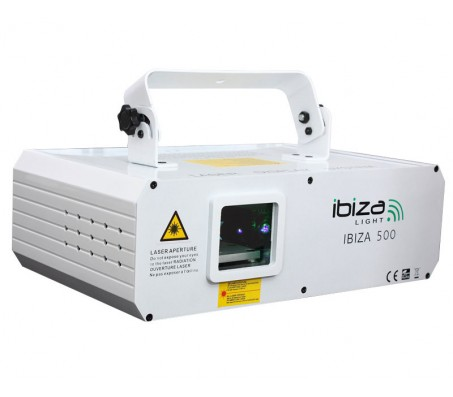 IBIZA500 lazeris 500mV RGB baltas