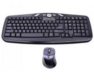 KOM0024 belaidės klaviatūros ir pelės komplektas 2.4GHz