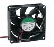 EE80252S1-A99 ventiliatorius DC 80x80x25mm 24VDC 69.7m3/h 33dBA