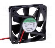 KD1206PHS3 ventiliatorius 12VDC; 60x60x15mm; 25.48m3/h; 25dBA
