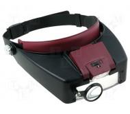 NB-HDLUP-48 akiniai didinamieji su LED apšvietimu