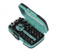 I-SD2319 atsuktuvų - rakto galvučių rinkinys su rankena 22vnt.