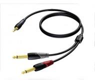 CLA713/1.5 laidas 3.5 stereo 2x6.3 1.5m