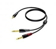 CLA713/3 laidas 3.5mm Jack stereo - 2x6.3mm Jack