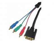 KP03706-3 laidas DVI(24+5)-3RCA 3m