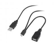 KOM0517 perėjimas micro USB - USB kišt.+USB lizdas