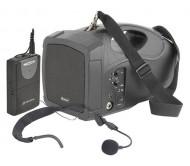 H25 nešiojama aktyvi sistema su USB grotuvu ir VHF mikrofonu