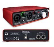 Focusrite Scarlett 2 i 2 audio interfeisas
