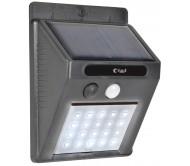 20LED-SSL šviestuvas LED su saulės elementais įkraunamu akumuliatoriumi ir judesio davikliu, IP44 6500K 1200mAh