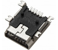 2197 lizdas mini USB Type-B SMD