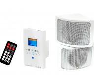 30-310 instaliacinė garso sistema USB/SD/AUX/Bluetooth 110V/230V 2x 15Wrms