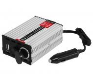 58-621 įtampos keitiklis 24V/12V 15A su USB