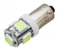 6100 automobilinė lempa LED BA9 5SMD 3.4W