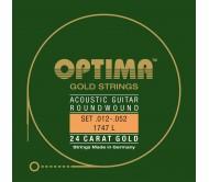 667337 stygų komplektas akustinei gitarai .012 - .052 GOLD