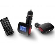 74-132 FM siųstuvas USB, SD TF (SD) 12V-24V MP3/WMA