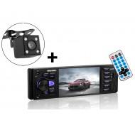 78-307 Automagnetola 4x60W FM,Bluetooth,MPS,SD,AUX,RDS+ atbulinės eigos kamera