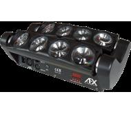 8BEAM-FX šv.efektas judančia dviguba galva 8x 8W RGBAW CREE LED