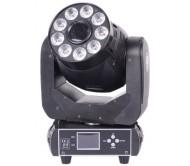 AC-L137C šv. efektas judančia galva 1x 75W baltas + 9x 12W RGBWA/UV LED