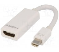 AK-340404-001-W adapteris: HDMI lizd. - mini DisplayPort kišt., 0.15m