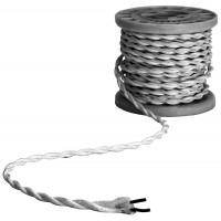 B2WSV-5 kabelis 2x0.75mm sidabrinis 5m.