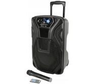 BUSKER-10 nešiojama garso sistema su akumuliatoriumi, VHF mikr. + USB/SD/FM/BT