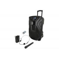 BUSKER-15U nešiojama įkraunama garso sistema su Bluetooth ir UHF mikrofonais
