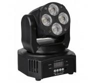 CLUBWASH MINI šviesos efektas jundančia galva 4x 12W RGBWA-UV LED