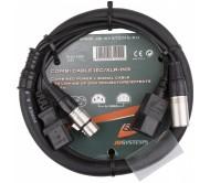 COMBI CABLE IEC/XLR-1M3 laidas 1.3m