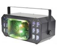 CORTINA plataus kampo LED šviesos efektas DERBY + UV + STROBE
