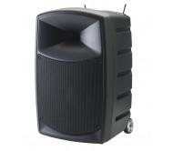 CR25A-COMBO-F5 nešiojama garso sistema su akumuliatoriumi ir dvejais belaidžiais rankiniais UHF mikrofonais, USB/SD/Bluetooth, 250Wrms 12''