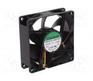 EE80251S1-G99 ventiliatorius 80x80x25mm 12VDC 1.7W 69.7m3/H 33dBA su laidu signalo tipo F