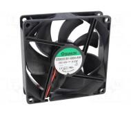 EE92251B1-A99 ventiliatorius su guoliu 12VDC, 92x92x25mm