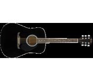 FA-125 akustinė gitara su dėklu Dreadnought Black