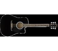 FA-125CE DREADNOUGHT, BLACK WN elektro akustinė gitara