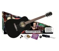 FENDER CD-60PACK BLACK-DS-V2 akustinės gitaros rinkinys