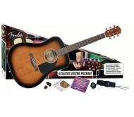 FENDER CD-60PACK SUNBURST-DS-V2 akustinės gitaros rinkinys