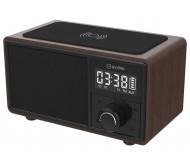 FUSION nešiojama Bluetooth garso kolonėlė su SD/FM/AUX grotuvu ir belaidžio įkrovimo padėklu