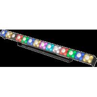 FXBAR140 blinderis 14x 3W CREE LED + 56x 3-in-1 RGB LED matricos foninis šviesos efektas