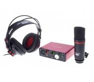 Focusrite Scarlett Solo Studio USB 2nd Generation komplektas: audio sąsaja su ausinėmis ir mikrofonu