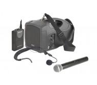 H25PLUS nešiojama gido sistema su USB grotuvu, 1 x VHF belaidžiu rankiniu + 1 x segamu ant diržo mikrofonu, 25Wmax