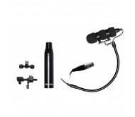 HCS30 akustinių instrumentų mikrofonas su adapteriu ir priešstiprintuviu