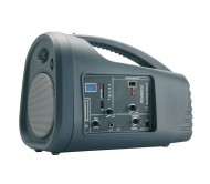 JOGGER60 nešiojama gido sistema su akumuliatoriumi, belaidžiu UHF + laidiniu rankiniu mikrofonu, USB/SD grotuvu, 60Wrms 5.25''