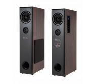KM0526 WAVE 2.0 garso kolonėlių komplektas su stiprintuvu ir belaidžiu mikrofonu, SD/USB/FM/Bluetooth, 2x 42W RMS