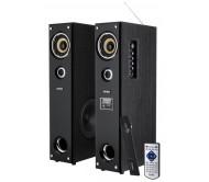 KOM0328 kolonėlių komplektas su FM/USB/MP3 grotuvu Karaoke