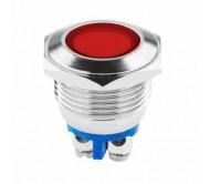 LED0157 signalinė lemputė raudona LED 12V-24V 18mm
