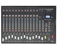 MPX16 mikšerinis pultas 16 kanalų su kompresoriumi, efektais ir USB/SD/Bluetooth grotuvu