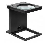 NAR0842 pastatomas padidinimo stiklas 108mm/2,5D 3x LED