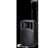 NOMAD12UHF garso sistema su akumuliatoriumi, 2 x UHF belaidžiais mikrofonais, CD / USB / Bluetooth grotuvu, 12′′